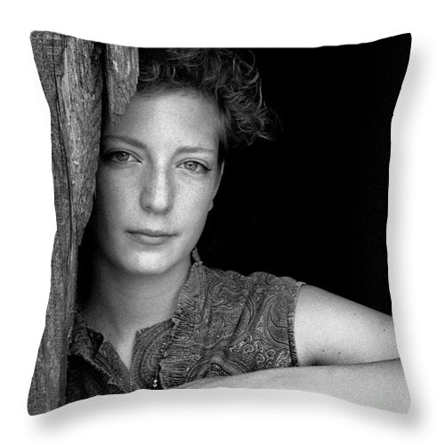 Girl Throw Pillow featuring the photograph Nicole by Murray Bloom