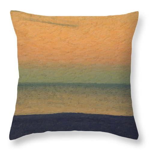 �not Quite Rothko� Collection By Serge Averbukh Throw Pillow featuring the photograph Not quite Rothko - Breezy Twilight by Serge Averbukh
