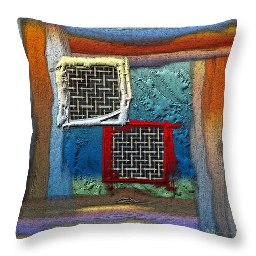 'abstracts Plus' Collection By Serge Averbukh Throw Pillow featuring the photograph Obstructed Ocean View by Serge Averbukh