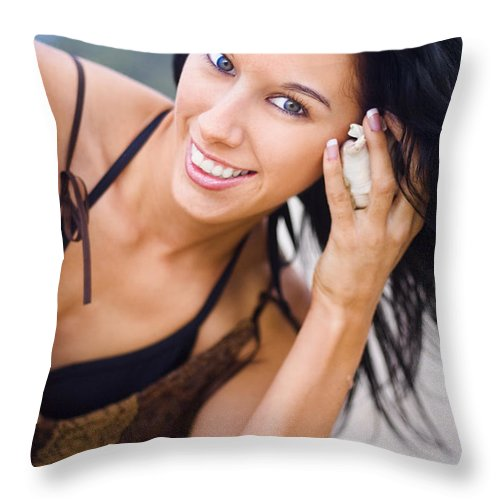 Attractive Throw Pillow featuring the photograph Ocean Rush by Jorgo Photography - Wall Art Gallery