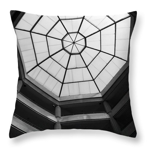 Octagon Throw Pillow featuring the photograph Octagon Skylight by Yali Shi