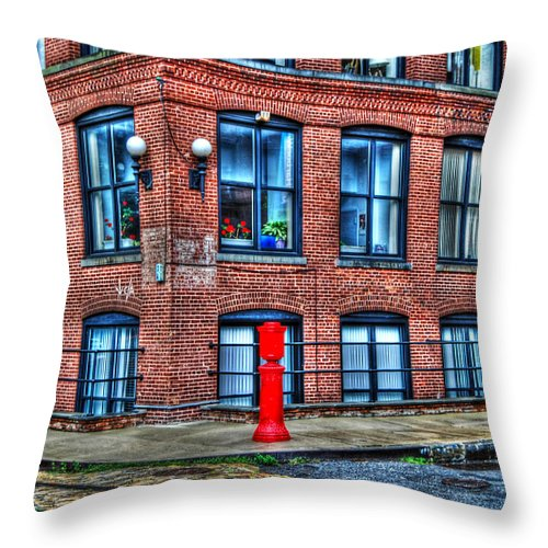 Brooklyn Throw Pillow featuring the photograph Old World Brooklyn by Randy Aveille