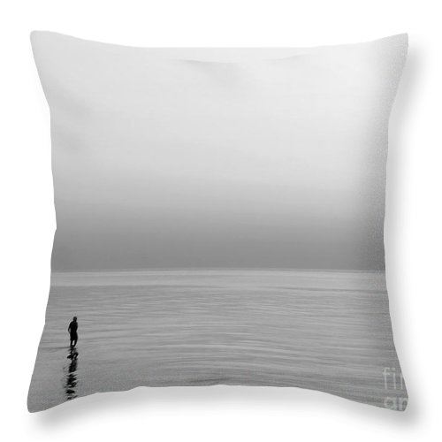 Lake Throw Pillow featuring the photograph One Man by Dana DiPasquale