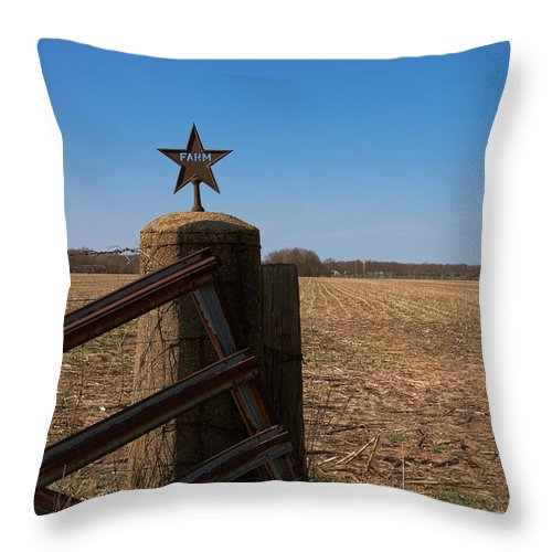 Farm Throw Pillow featuring the photograph Open For Business by Melissa Leda