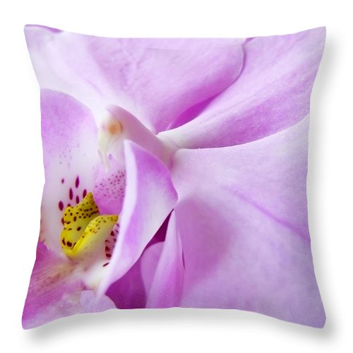 Orchid Throw Pillow featuring the photograph Orchid by Daniel Csoka