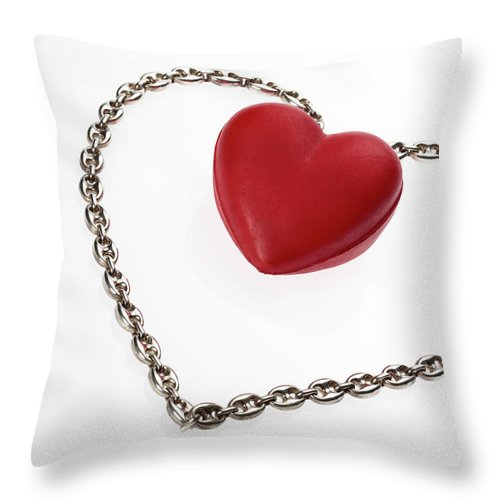 Composition Throw Pillow featuring the photograph Our Hearts Forever Together by Stefania Levi