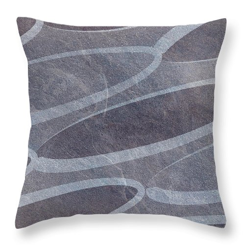 Abstract Throw Pillow featuring the digital art Ovals Pattern Texture Background by Alain De Maximy