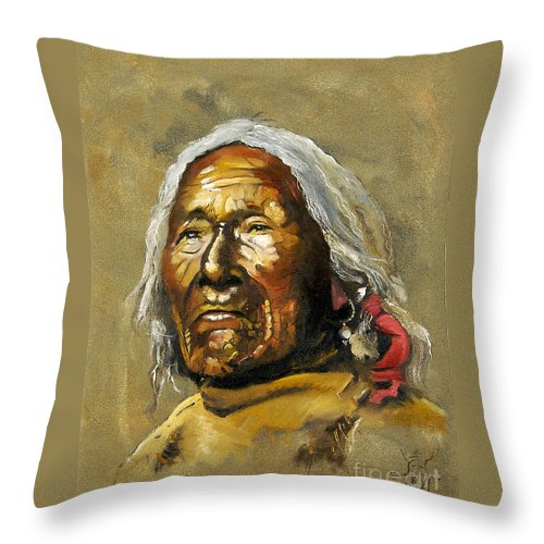 Southwest Art Throw Pillow featuring the painting Painted Sands Of Time by J W Baker