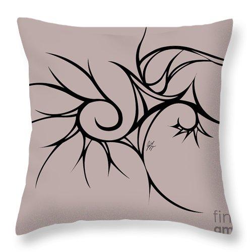 Throw Pillow featuring the digital art Pandemonium by Jamie Lynn