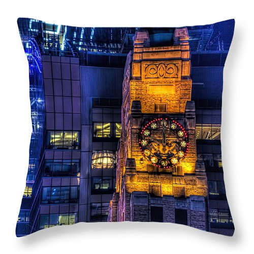 New York City Throw Pillow featuring the photograph Paramount Building by Kenneth Grant