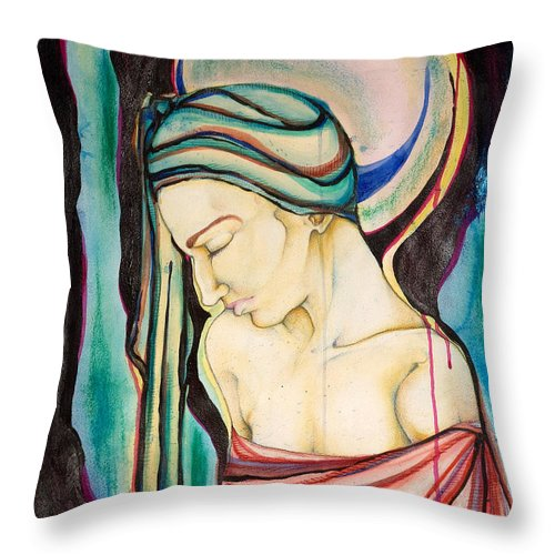 Peace Throw Pillow featuring the painting Peace Beneath The City by Sheridan Furrer