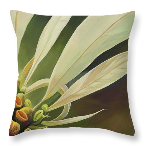 Botanical Throw Pillow featuring the painting Phenomenal World by Hunter Jay