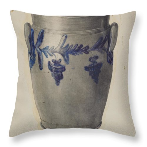 Throw Pillow featuring the drawing Pickle Jar by Francis Law Durand