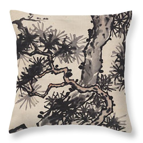 Zhang Daqian (10 May 1899 – 2 April 1983) Was One Of The Best-known And Most Prodigious Chinese Artists Of The Twentieth Century. Originally Known As A Guohua (traditionalist) Painter Throw Pillow featuring the painting Pine by Zhang Daqian