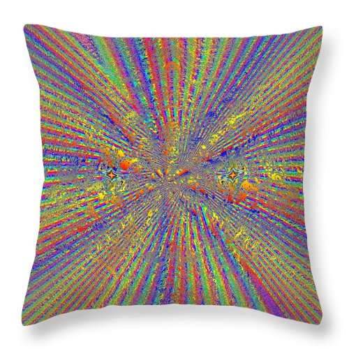 Point Throw Pillow featuring the digital art Point Counter Point by Tim Allen