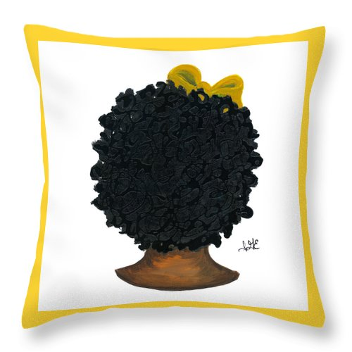 Naturally Me Kidz Throw Pillow featuring the painting Mia by Sonja Griffin Evans