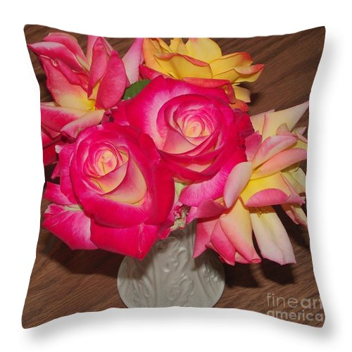 Flowers Throw Pillow featuring the photograph Pretty Flowers by James Carr