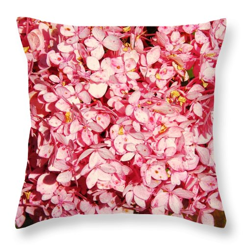 Flower Throw Pillow featuring the photograph Prettiest Pink by JAMART Photography
