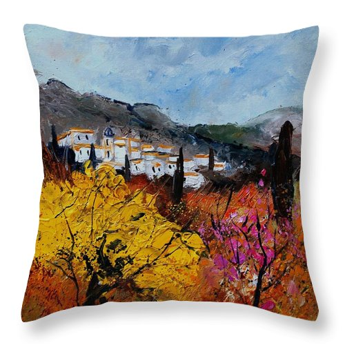 Provence Throw Pillow featuring the painting Provence by Pol Ledent