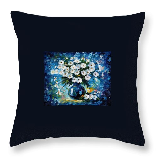 Afremov Throw Pillow featuring the painting Radiance by Leonid Afremov