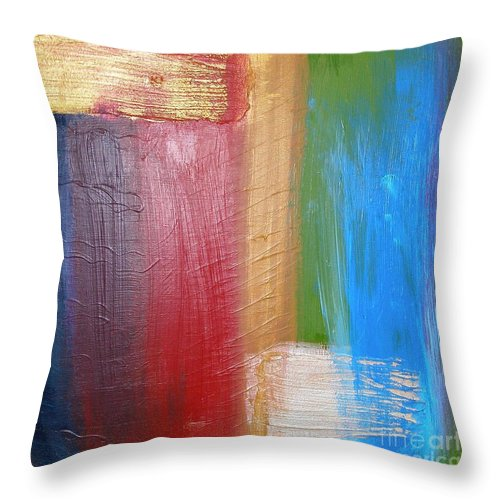 Rainbow Throw Pillow featuring the painting Radiance by Maria Bonnier-Perez