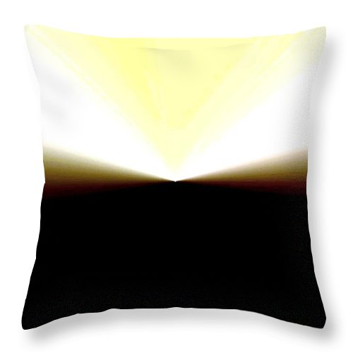 Abstract Throw Pillow featuring the digital art Radiation by Will Borden