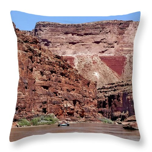 Rafting Throw Pillow featuring the photograph Rafting The Colorado by Martin Massari