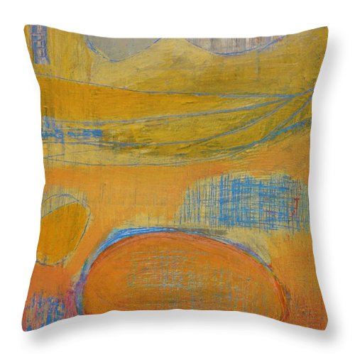 Abstract Throw Pillow featuring the painting Rebirth by Habib Ayat
