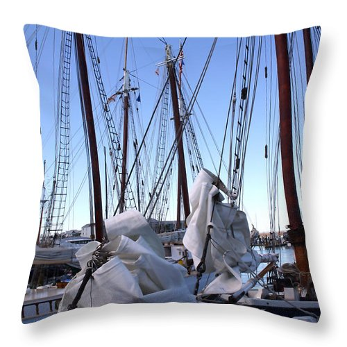 Sailboats Throw Pillow featuring the photograph Resting by Mary Haber