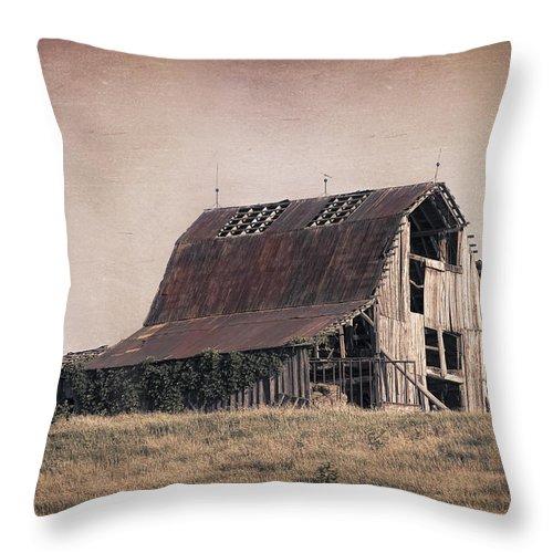 Americana Throw Pillow featuring the photograph Rustic Barn by Tom Mc Nemar