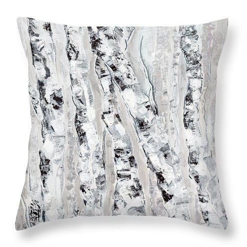 Tree Throw Pillow featuring the painting Safe Haven by Jacqueline Milner