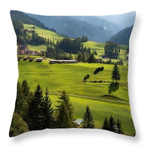 Santa Maddalena Throw Pillow featuring the photograph Santa Maddalena - Italy by Wim Slootweg