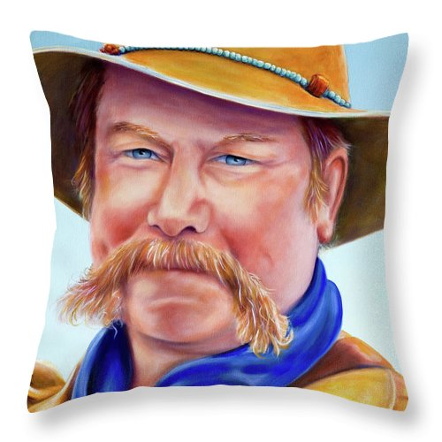 Man Throw Pillow featuring the painting Santana Jack by Shannon Grissom