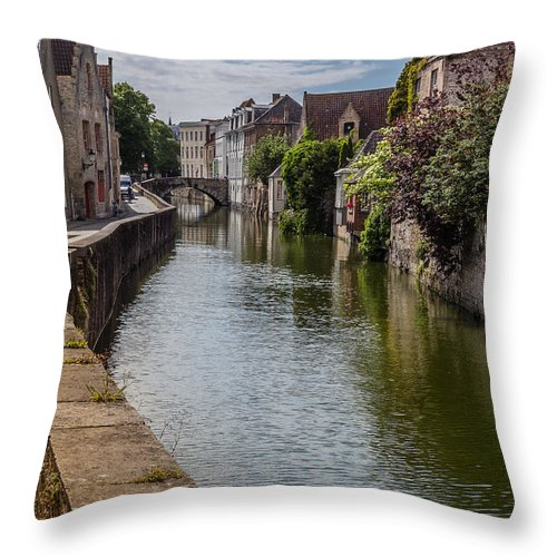 Architecture Throw Pillow featuring the mixed media Sea Wall by Capt Gerry Hare