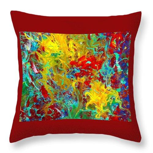 Secret Garden Throw Pillow featuring the painting Secret Garden by Natalie Holland