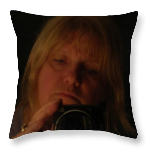 Throw Pillow featuring the photograph Self Portrait by Nancie Johnson