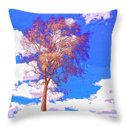 Sentinel Throw Pillow featuring the mixed media Sentinel by Dominic Piperata