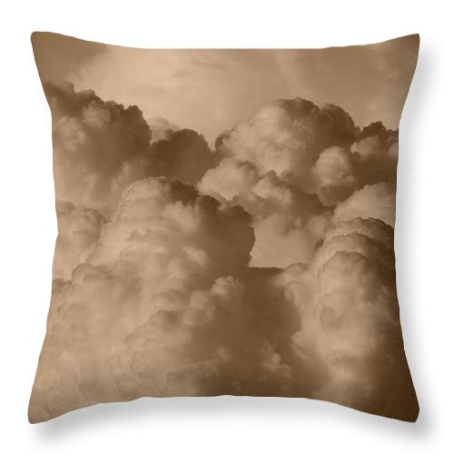 Sepia Throw Pillow featuring the photograph Sepia Clouds by Rob Hans