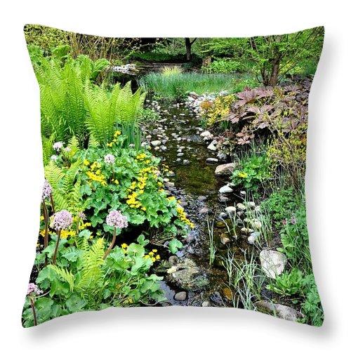 Garden Throw Pillow featuring the photograph Serenity by Sally Falkenhagen