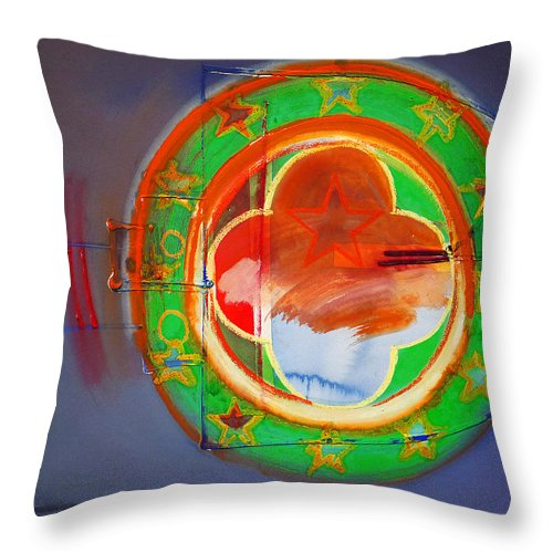 Symbol Throw Pillow featuring the painting Ship Of State by Charles Stuart