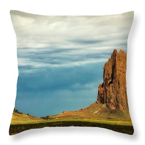 Nature Throw Pillow featuring the photograph Shiprock, New Mexico by Zayne Diamond Photographic