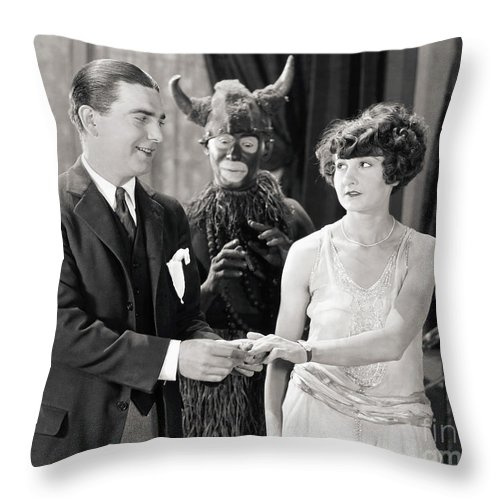-couples- Throw Pillow featuring the photograph Silent Still: Couples by Granger