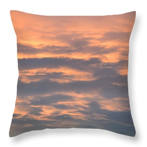 Landscape Throw Pillow featuring the digital art SKY by Erin Schuettler