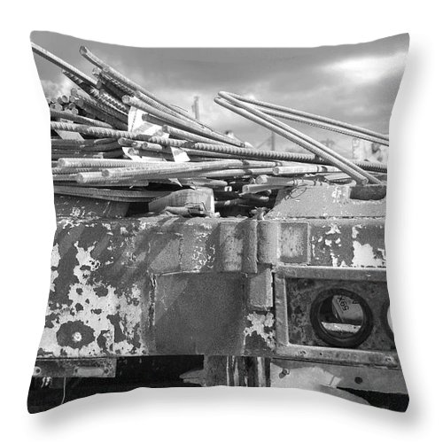 Black And White Throw Pillow featuring the photograph Sky Lights by Rob Hans