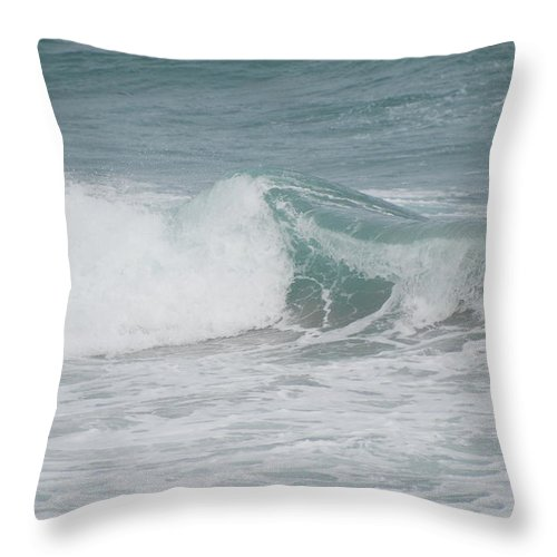 White Throw Pillow featuring the photograph Splash by Rob Hans