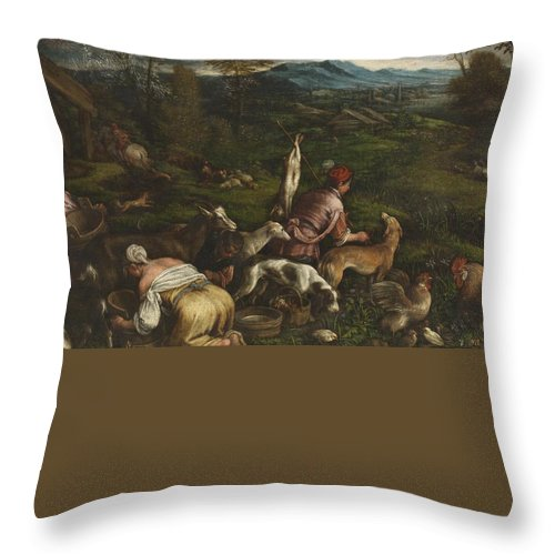 Spring Throw Pillow featuring the painting Spring by MotionAge Designs