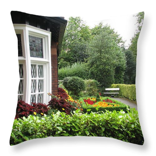 St. Stephen's Green Throw Pillow featuring the photograph St. Stephen's Green by Kelly Mezzapelle