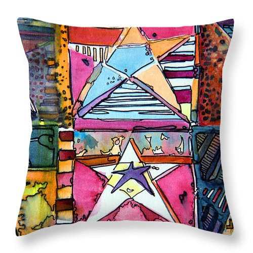 Pop Art Throw Pillow featuring the painting Star Power by Mindy Newman