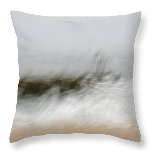Storm Throw Pillow featuring the photograph Stormy Seas by Vladi Alon