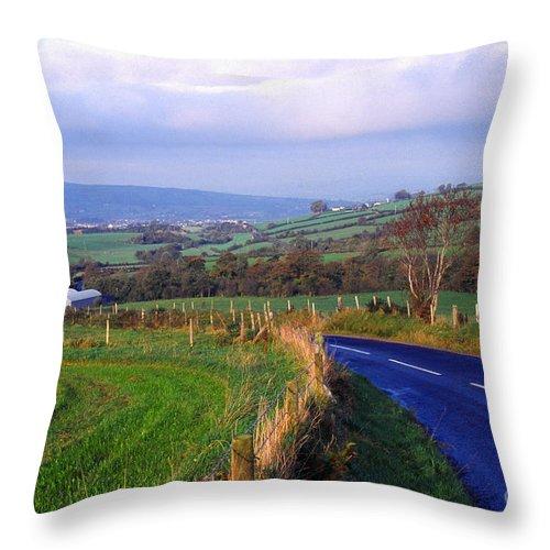 Northern Ireland Throw Pillow featuring the photograph Strabane Plumbridge Road by Thomas R Fletcher